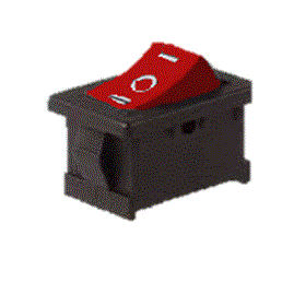 LLAVE TECLA 3C 6A ON-OF-ON ROJO